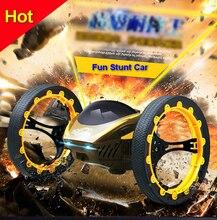 Забавный Электрические Беспроводной дистанционный пульт stunt car игрушки скорость Гоночная машина со светодиодной подарок на день рождения для детей Для маленьких мальчиков