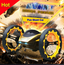 Funny electric Wireless  remote control stunt car toys speed racing car with led  birthday gift for children boys kids