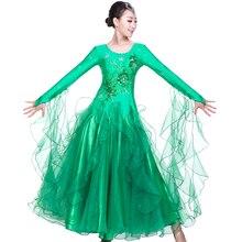 New Modern Dance Clothes Ballroom Dance Dress Costume Waltz Dress Tango National Standard Dance Clothing Performance Service