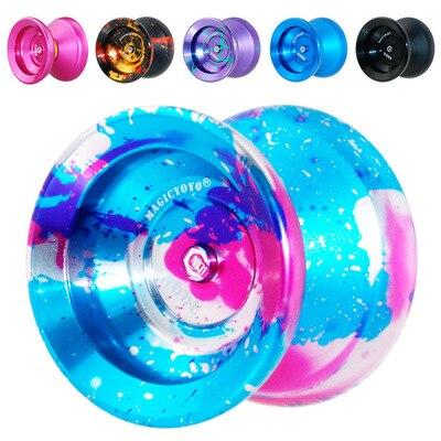 Magic yoyo toy Professional metal yo-yo Y01 node Toy High Speed 10 ball Bearings Special yo yo Gift Toys For Children aoda portable cool plastic alloy yo yo toy deep blue