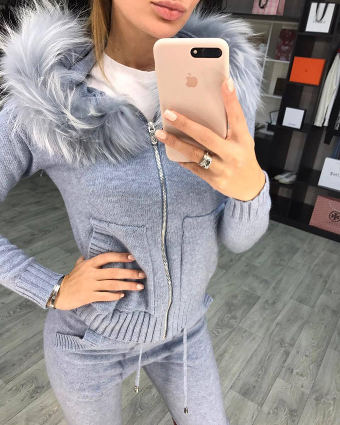Winter Knitted Suit for Women 28