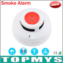 Free Shipping 50pcsWireless Smoke Fire Alarm detector sensor TM-VKL001 With Infrared Photoelectronic Sensor Home Security System