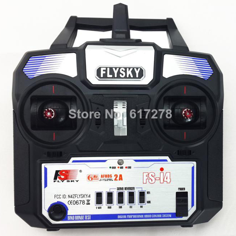 2.4G FlySky FS-i4 I4 4CH Transmitter and Receiver System LED for RC Helicopter Glider Quadcopter VS CT4B Radio Control flysky 2 4g 6ch channel fs t6 transmitter receiver radio system remote controller mode1 2 lcd w rx rc helicopter multirotor
