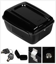 Motorcycle Painted Police Tour Pack Pak Trunk Saddlebag For Harley FLHP FLHTP Models Gloss Black
