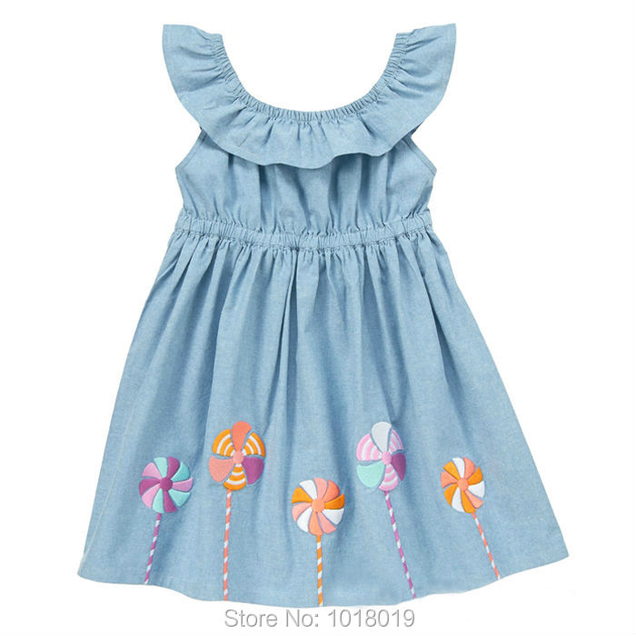 цены  New 2017 Summer Brand Top Quality 100% Woven Cotton Baby Girls Dress Children Clothing Baby Girl Clothes Kids Little Dress Girls