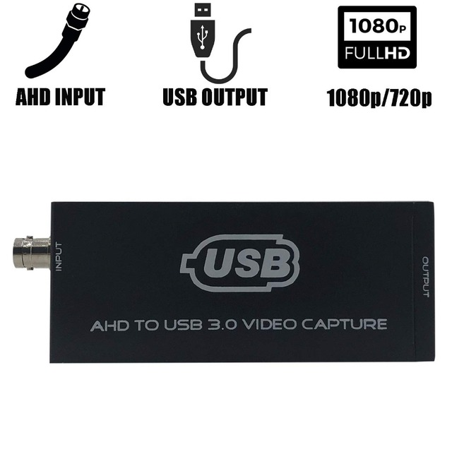 AHD to USB 3.0 Video Capture Card Full HD UVC Playback Card for Live Streaming Support vMix OBS Studio iSpy etc.