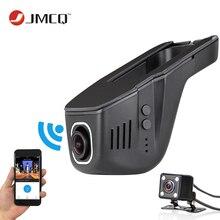 2017 El Coche Más Nuevo Dvr Mini Cámara Del Coche Wifi Full HD 1080 P Dash Cam Video Recorder Registrator Videocámara Dual de la Lente Dvr Control de App