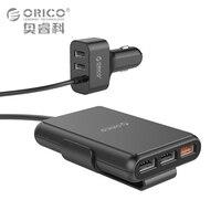 ORICO 5 Porty USB Uniwersalna Ładowarka Samochodowa USB QC3.0 Szybka Adapter 52 W Do MPV Samochodów Telefony Komórkowe Tablet PC 12 V-24 V dostępne