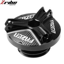 for FAZER logo Motorcycle accessories CNC Aluminum Oil Filler Cap Plug cover For Yamaha FZ1 FZ6 FZ600 FZ6R FZ8 Fazer