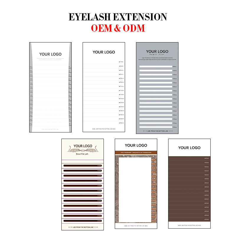 DeceMars Private label personal logo name eyelash extension ODM OEM random size customize lash extension with custom brand name-in Customized Lashes from Beauty & Health