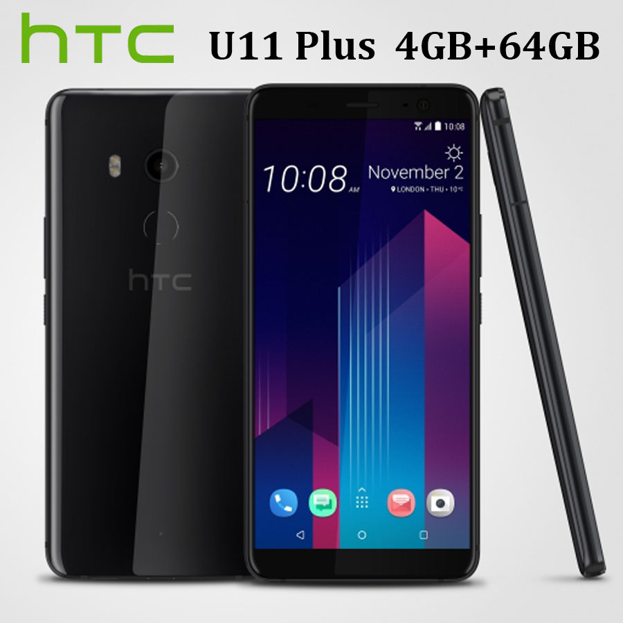 Original HK Versão HTC U11 Plus U11 + Dual SIM Telefone Móvel LTE 4GB + 64GB Núcleo octa 6.0