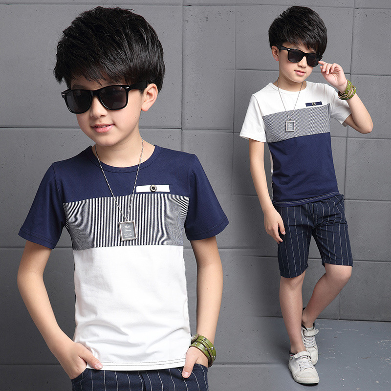 Baby Boy Clothing Sets Summer Boys Short Sleeve T Shirts + Pants Sport Children Clothing Sets Kids Clothes Sets For Boys 9 13 14