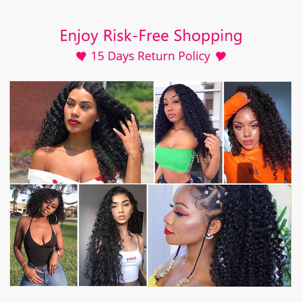 ALI GRACE HAAR Braziliaanse Diepe Golf 5*5 Sluiting Gratis Midden Deel Kant Closure100 % Remy Human Hair Natuurlijke kleur Gratis Verzending