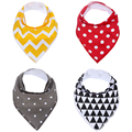 Baby Bandana Drool Bibs Organic 1 Pack for Boys and Girls Absorbent Soft Cotton for Teething Feeding