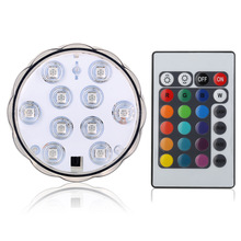 shenzhen wholesale led dive light colorful lamp remote control knob waterproof diving light tank floating candle lamp