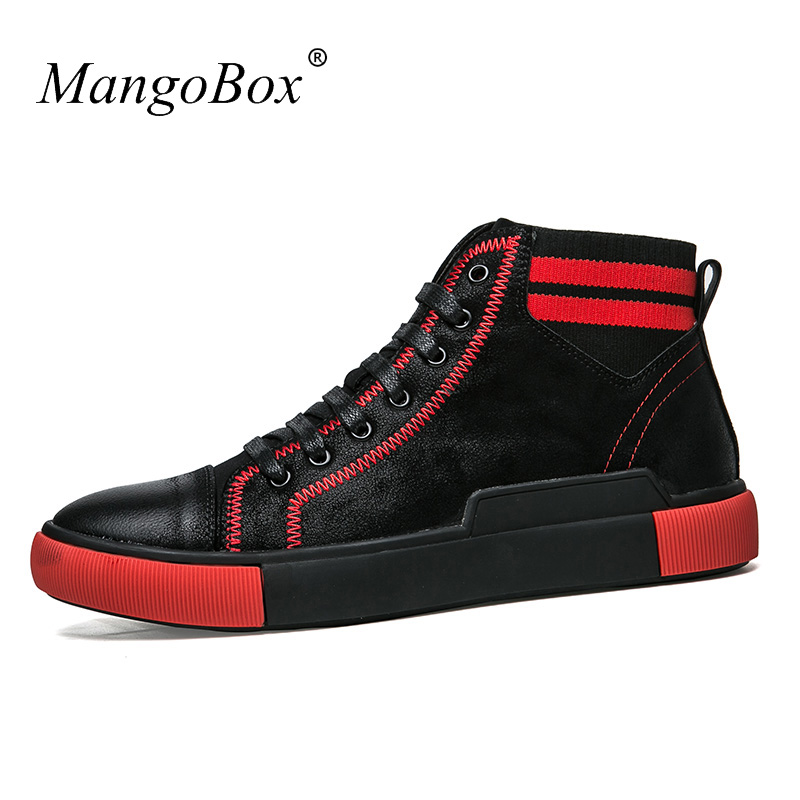 Luxury Brand Man Boots Shoes Hard-Wearing Designer Mens Footwear High Top Men Casual Leather Shoes Spring Mens Fashion Shoes blaibilton brand winter warm velvet high top men casual shoes luxury genuine leather male footwear fashion designer mens sd3599