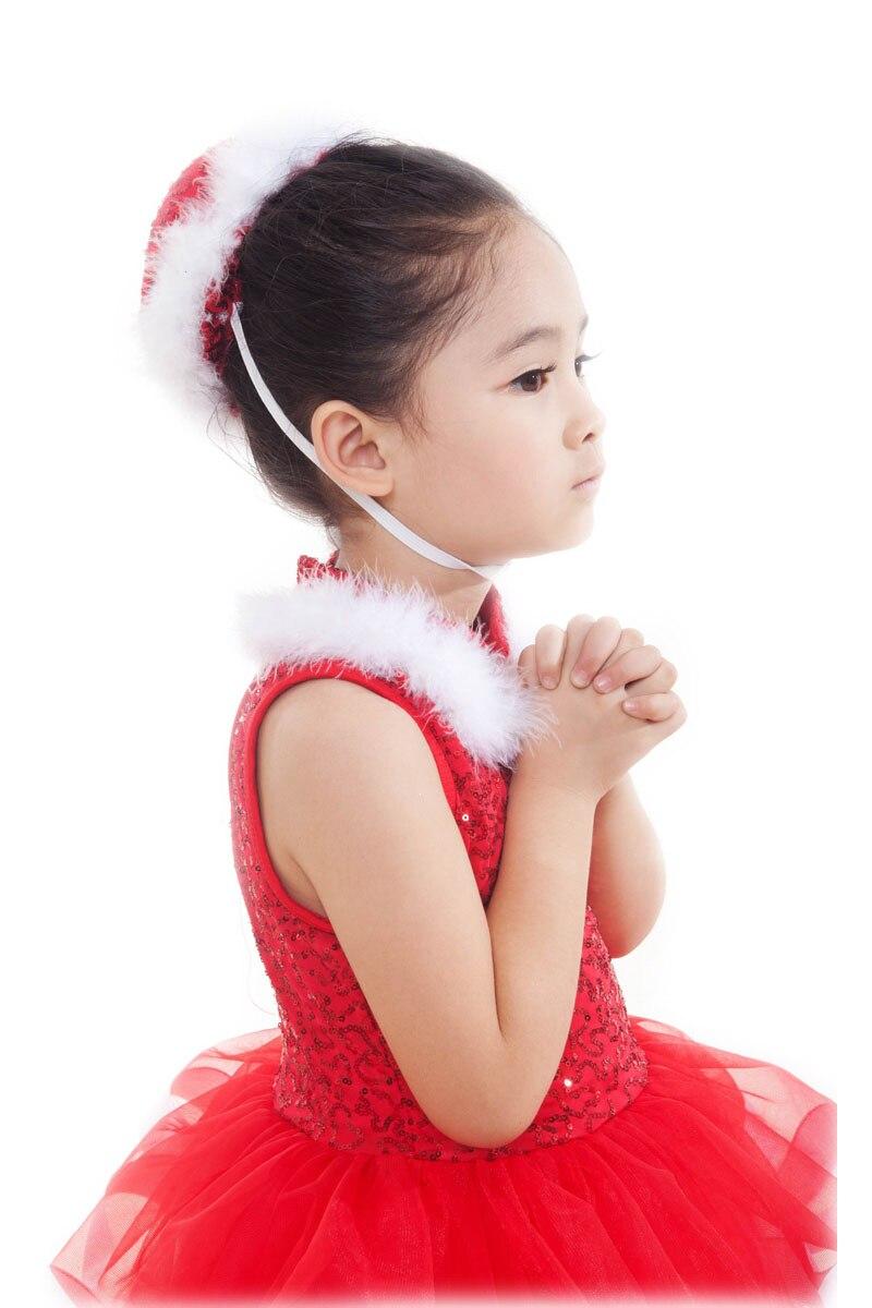 Nouveau rouge velours professionnel Ballet Costumes danse robe pour filles femmes danse enfants gymnastique Justaucorps danse - 4