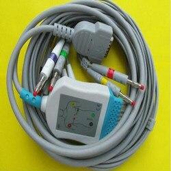 Compatible for GE Marquette MAC400, MAC500, MAC1000, MAC1100/1200,GE EKG ECG Cable 10 Leadwires  Banana 4.0 End 10K Resistor