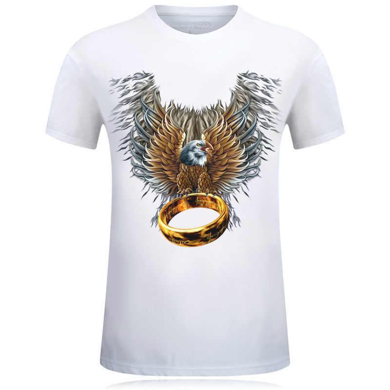 2019 новая мужская футболка Lobo печать футболка 3D мужская футболка Новинка рубашка с животным Футболка мужская летняя с коротким рукавом o-образным вырезом T-shir