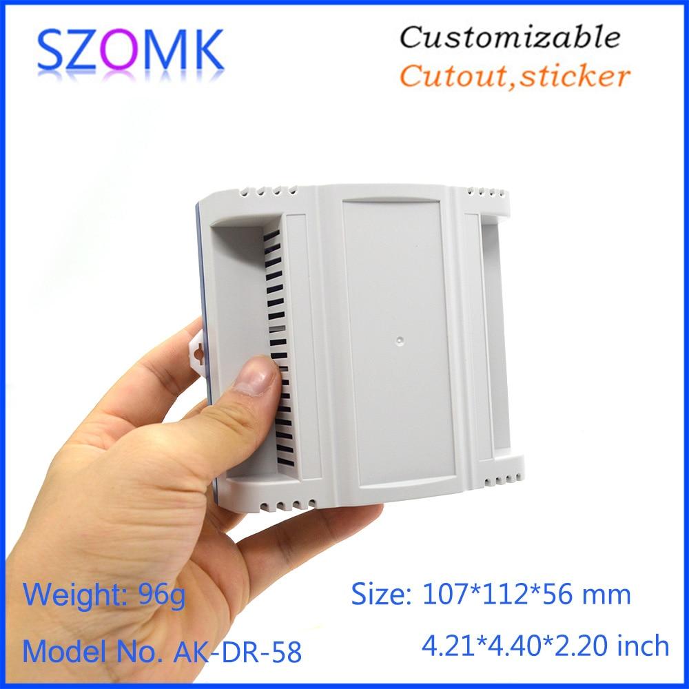 szomk plastic din rail enclosure PLC plastic electronics instrument housing din rail device box (12)