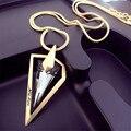 Lemon value triángulo punky del vidrio cristalino de los colgantes encantos de la manera maxi chapado en oro a largo collares regalo de la joyería mujeres tp043