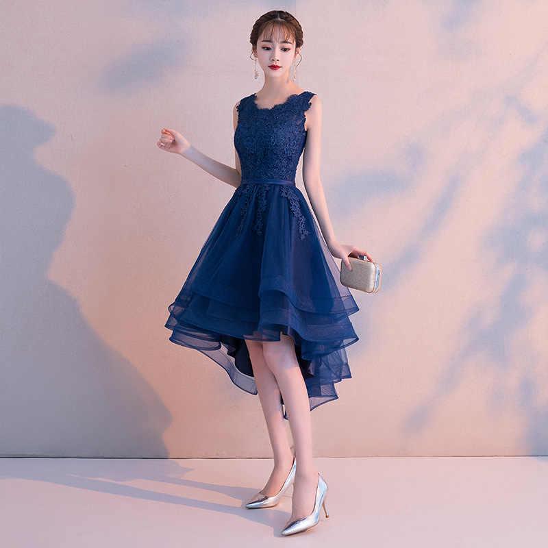 e820d954793d69 ... MLS100#Front short back length dark blue wine red lace short Bridesmaid  Dresses wedding party ...