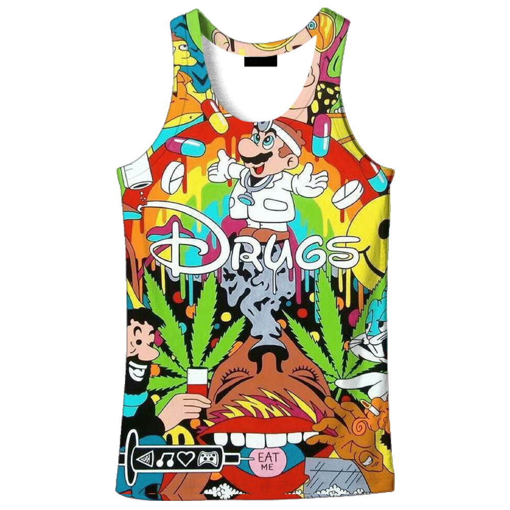 e014799ac8ebb 2018 hot sale New fashion 3D men s Cartoon rabbit print 9 size casual  tanktop custom made print free shipping-in Tank Tops from Men s Clothing on  ...