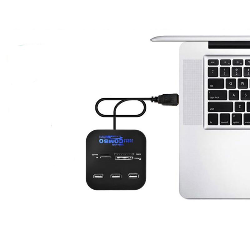 Image 5 - Twofro usb хаб 2,0 3 порта TF Micro SD кард ридер слот USB Combo мульти все в одном USB разветвитель кабели для ноутбука Macbook-in Считыватели карт памяти from Компьютер и офис on AliExpress