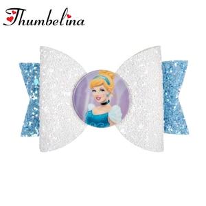 3.5 inch Adorable Pinky Cartoon Glitter Hair Bows Summer Bows Hair Pins You Choose Color Party Hair Clips Hair Accessories(China)