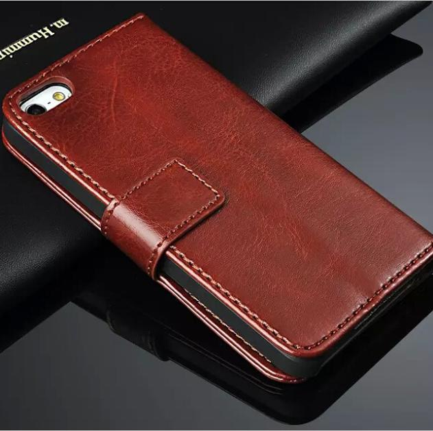 PU Leather Cell Phones Cover For Apple iPhone 5 5S Case Flip Stand Leather Cover For i Phone 5 5S Mobile Phone Cases Bags