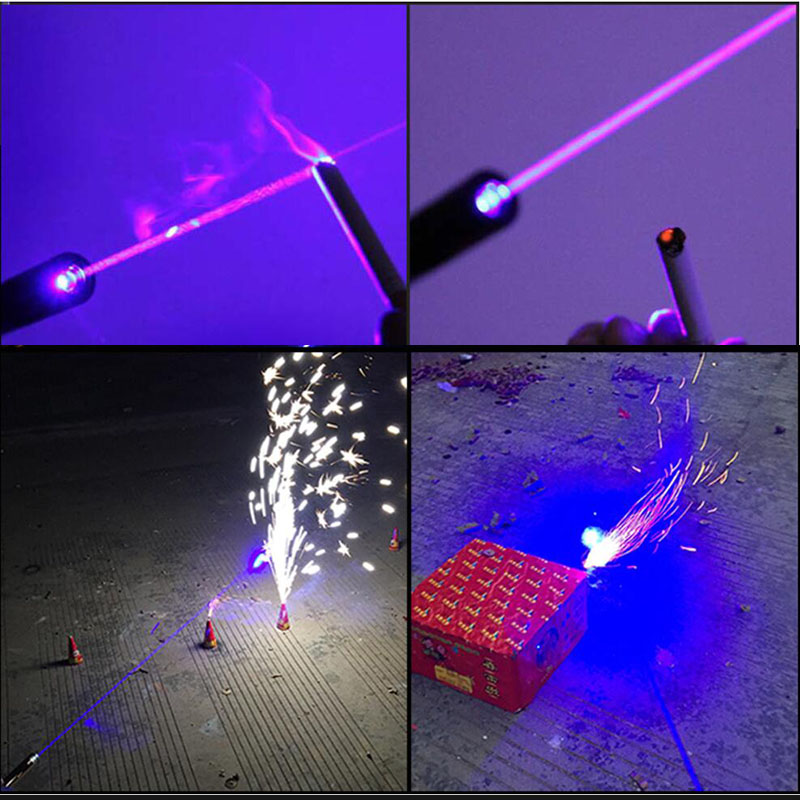 1200MW  laser pen Blue Laser Pointer Flashlight lighted cigarette & match Beam Lazer Module + 16340 Battery + Charger +  box with battery box 18650 li ion battery batteria rechargeable cells for lazer pointer strong beam torch toys 9900mah 3 7v