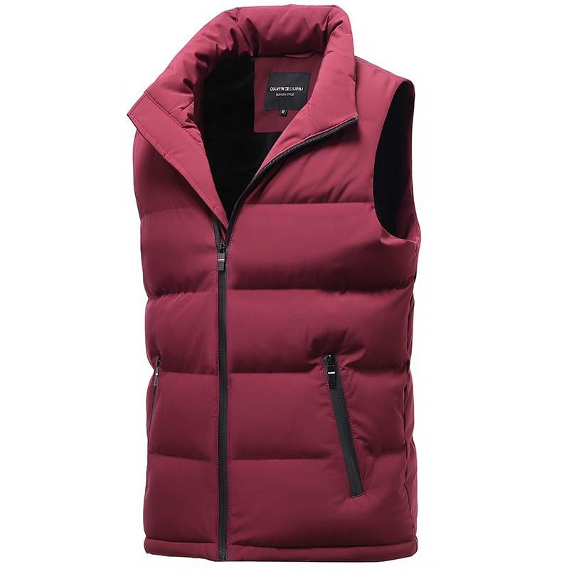 classic light men vest down korean streetwear clothing casual travel jackets male cloth vintage winter warm coat vests for men (2)