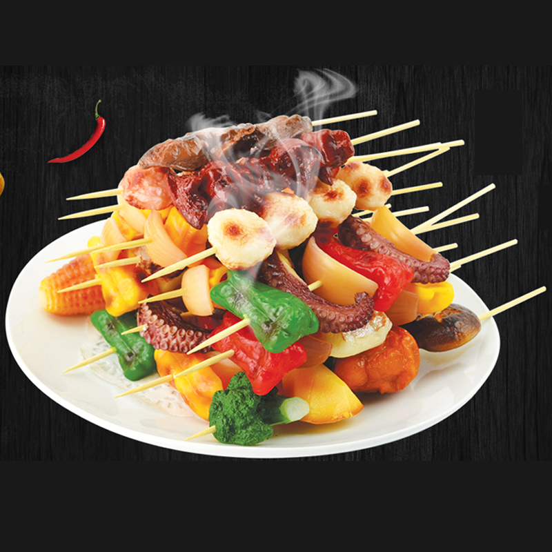 050 Imitation barbecue string food model fake barbecue string food ornament display props BBQ in Artificial Foods Vegetables from Home Garden