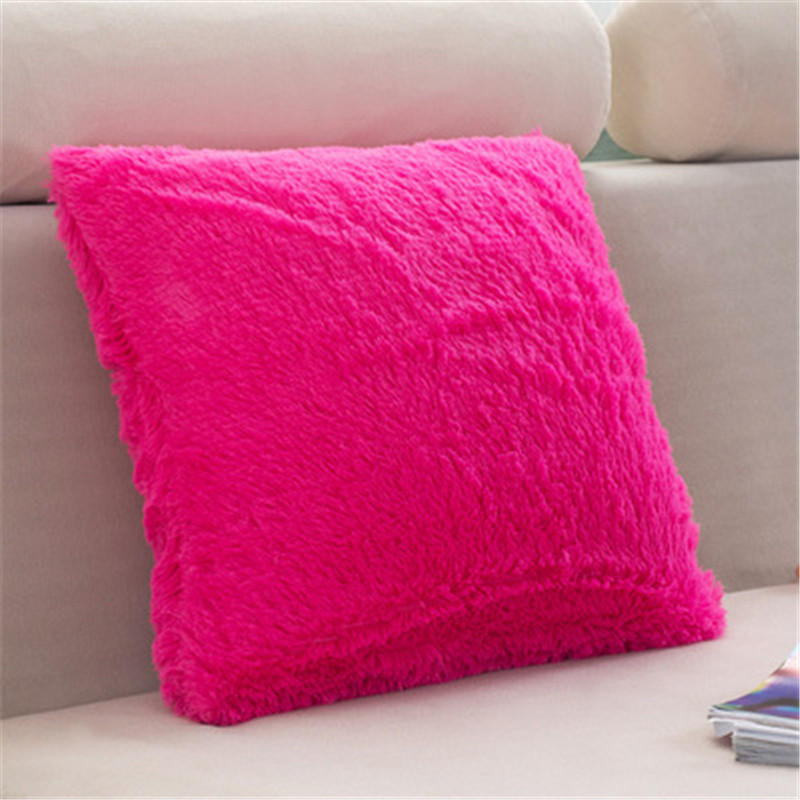 Decorative Pillows Without Covers : Super Soft Comfortable Short Plush Square Sofa Cushion Cover Throw Pillow Case Decorbox (without ...