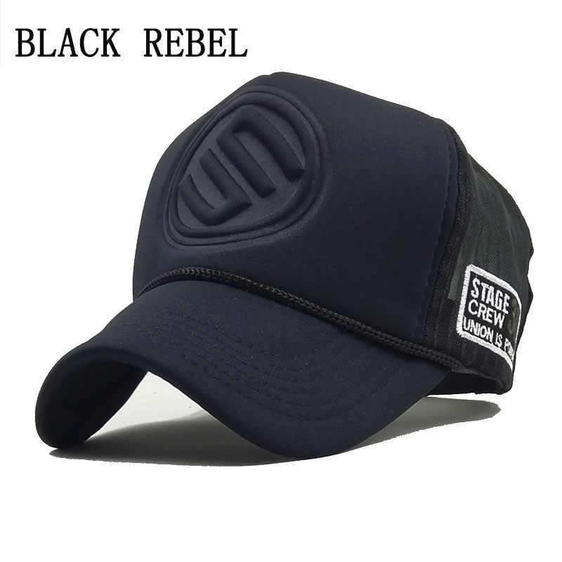 042c9d3f545d7 Black Rebel 2018 Hip Hop Black leopard Print Curved Baseball Caps Summer Mesh  Snapback Hats For