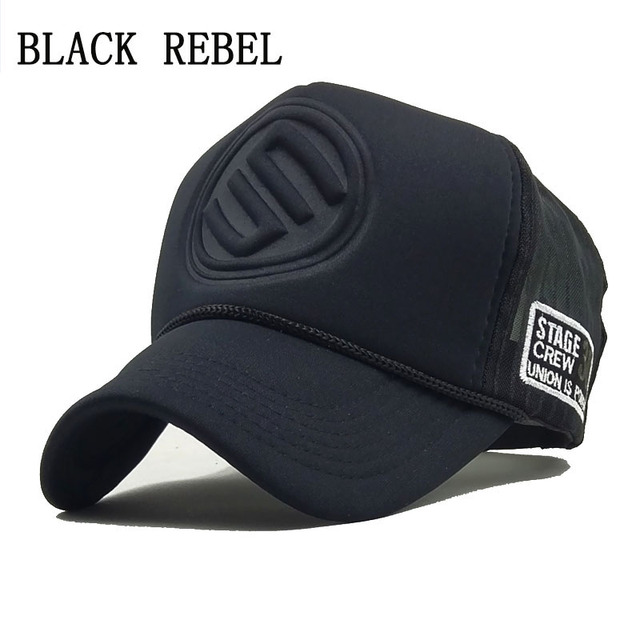 932c7bbd17752 US $5.49 |Black Rebel 2018 Hip Hop Black leopard Print Curved Baseball Caps  Summer Mesh Snapback Hats For Women Mencasquette Trucker Cap-in Men's ...