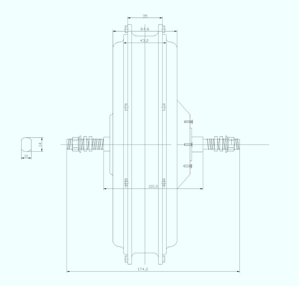 500W,750W,1000W Front Motor Drawing-1