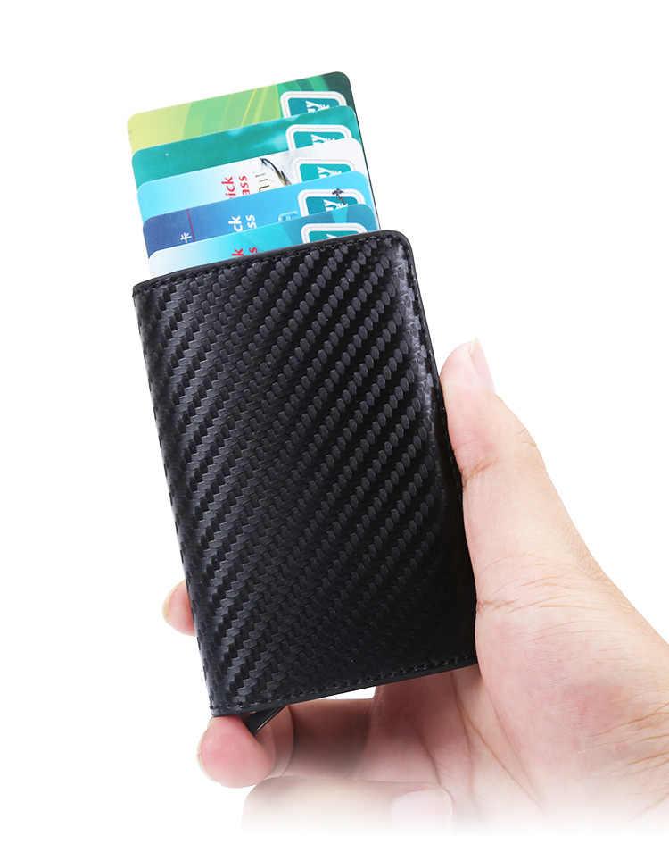 DIENQI, анти вор, мужской кредитный держатель для карт, блокировка Rfid, минималистичный кошелек, сумка, кожа, бизнес, id, держатель для карт, металлический кошелек, carteira