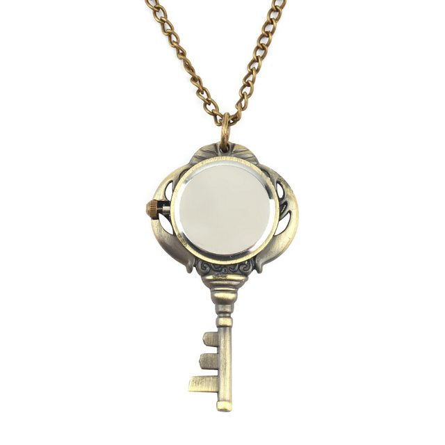 Online shop vintage antique stainless steel quartz pocket watch key vintage antique stainless steel quartz pocket watch key shaped pendant watch key chain unisex gift worldwide store mozeypictures Choice Image