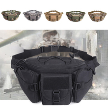 Outdoor Tactical Molle Waist Bag Hip Pack Shoulder Chest For Hunting Camping Hiking Belt Small Pouch