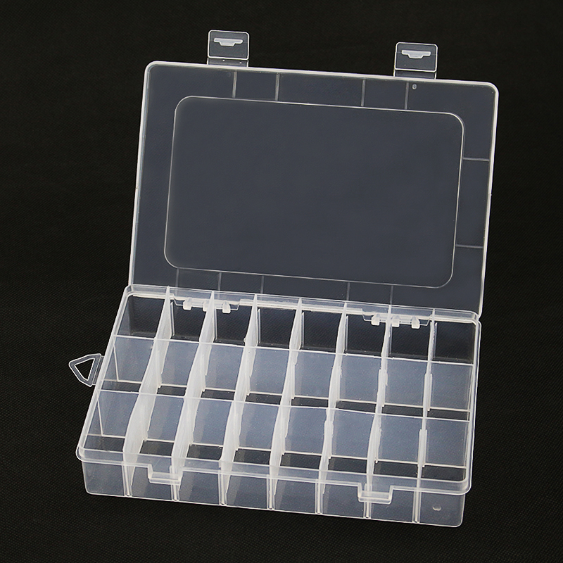 24 Grid New Storage Box Plastic Transparent Demountable Storage Case For Electronic Components Accessories Raspberry Pi 3