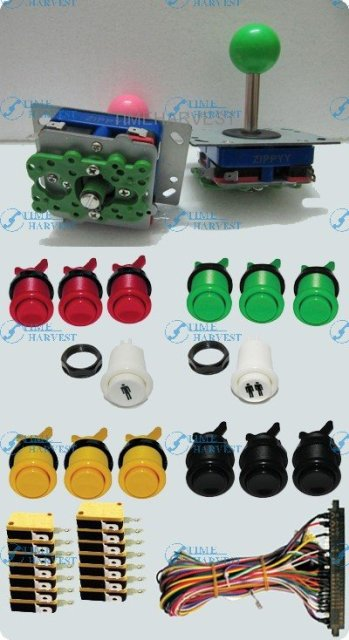 DIY Arcade parts Bundles With Joystick Push button Microswitch To Build Up Arcade Machine By Yourself