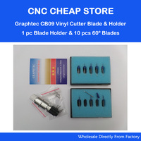 1 Pc Blade Holder For Silhouette Cameo Craftrobo 10 PCS 60 Degree Cutting Blades For Graphtec