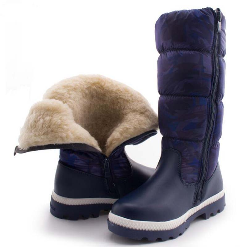 -35 Degree Russian Winter Children Snow boots Boys Girls High Quality fashion Long Boots Casual kids Cotton Sneakers for 6-18Y ...
