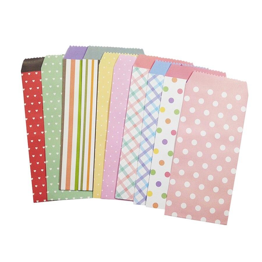 5 Pcs/lot 195x85mm Cute Dots Striped Fresh Paper Envelope Creative DIY Tool Greeting Card Cover Scrapbooking Gift