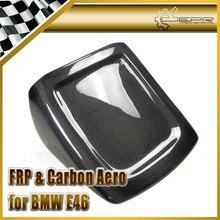 Промотирующие эмблемы на машину для укладки для BMW E46 M3 реальные сиденье из углеродного волокна крышка