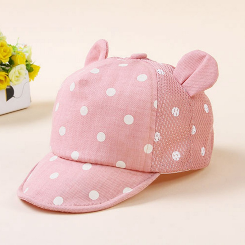 cc0a1ba41ece33 Summer Newborn Kids Toddler Baby Breathable Caps Girl Boy Snapback Cute Cap  Dots Little Ear Hats M1-in Hats & Caps from Mother & Kids on Aliexpress.com  ...