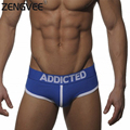 Men Sexy Patchwork Cotton Briefs Underwear Brand Underwear Man-(S M L)