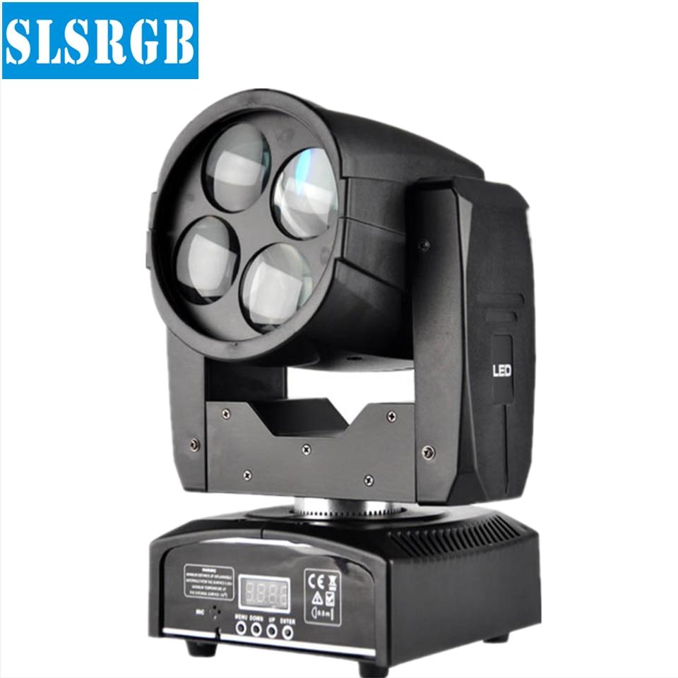 China dmx 4x10w rgbw super beam mini led moving head light Pro Christmas/Club/DJ/NightClub/Disco