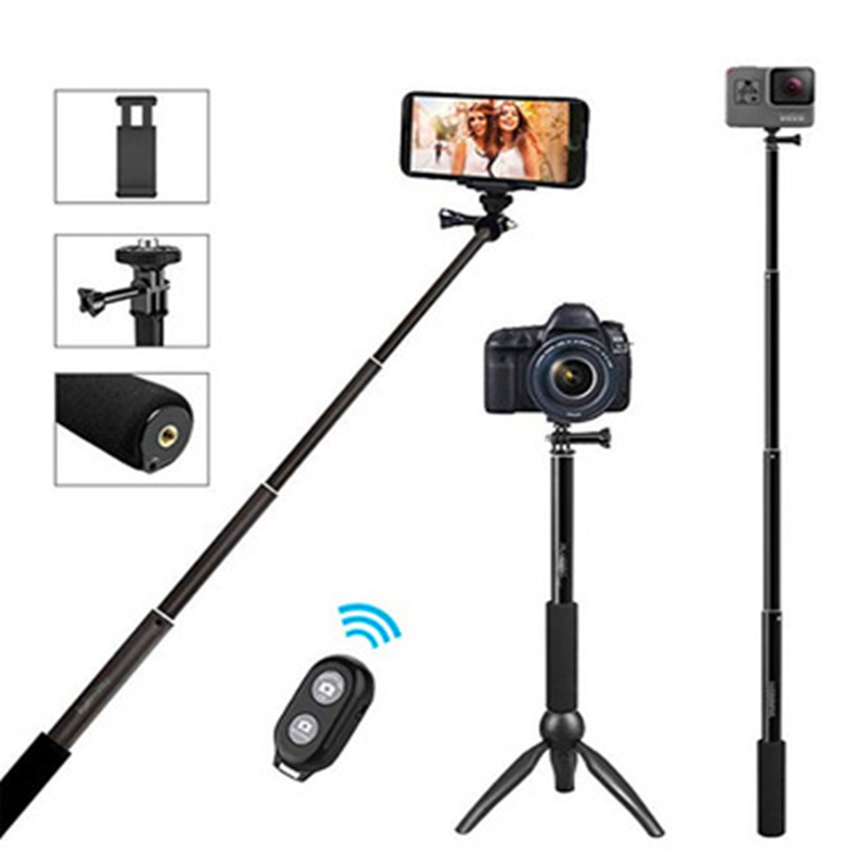Selfie Stick Bluetooth for Mobile Smart Phone Action Camera Bracket Bluetooth Remote Control Selfie Desktop Tripod Selfie in Live Tripods from Consumer Electronics